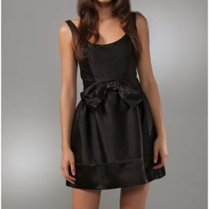 Silk Milly Black Dominique Dress with Bow